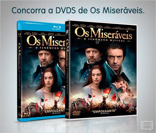 Concorra a DVDs de Os Miseráveis